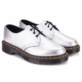 Dr.martens metallic 22960040-1461 37((4)(р) туфли silver santos 100% кожа