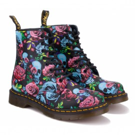 Ботинки dr.martens 1460 pascal rose 24427102-1460 37(4)(р) black/blue/pink 100% кожа