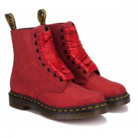 Ботинки dr.martens 1460 pascal fine glitter 24839602-1460 38(5)(р) red