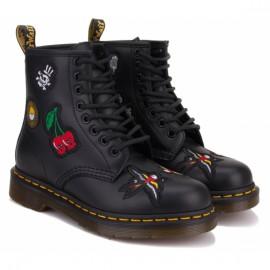 Ботинки dr.martens 1460 patch 24436001-1460 36(3)(р) black 100% кожа