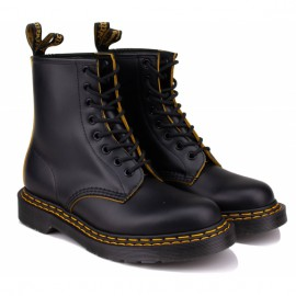 Ботинки dr. martens 1460 double stitch leather 26100032 black кожа