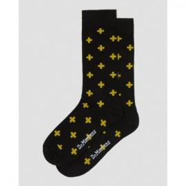 Носки dr. martens cross logo cotton blend ac623017 black/yellow