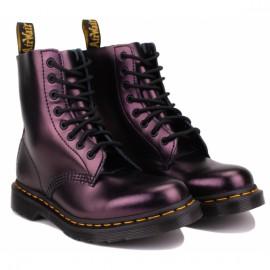 Ботинки dr. martens 1460 pascal chroma metallic leather 26233602 bordo