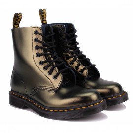 Ботинки dr. martens 1460 pascal chroma metallic leather 26233710 gold