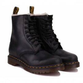 Ботинки dr. martens 1460 serena faux fur lined 21797001 black burnished wyoming