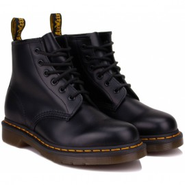 Ботинки dr. martens 101 yellow stitch smooth 26230001 black