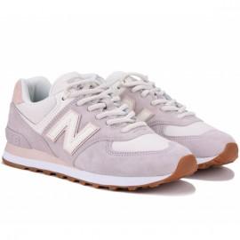Кроссовки new balance 574 wl574sax 37(6,5)(р) pink/white замша