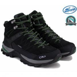 Ботинки cmp rigel mid trekking 3q12947-bk 44(р) black нубук/текстиль