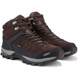 Ботинки cmp rigel mid trekking 3q12947-61bn 40(р) brown замша