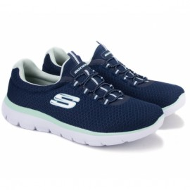 Skechers summits 12980/nvaq (kw4270) 37(7)(р) кроссовки navy/mint материал