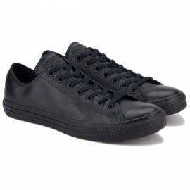 Converse chuck taylor all star ox black mono 135253c 42(8,5)(р) кеды black 100% кожа