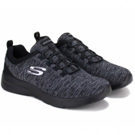 Кроссовки skechers 12965 bkcc dynamight 2.0 (kw4588) 38(р) black текстиль