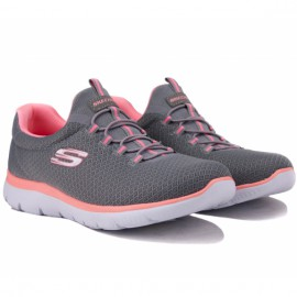 Кроссовки skechers summits 12980 gypk (kw4271) 38(8)(р) grey текстиль