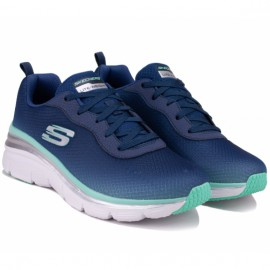 Кроссовки skechers fashion fit build up 12717 nvgr (kw4711) navy текстиль