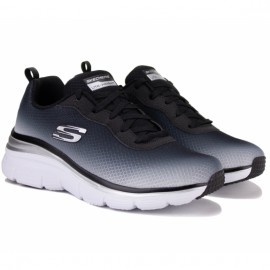 Кроссовки skechers fashion fit build up 12717 bkw (kw4701) 38(8)(р) black текстиль