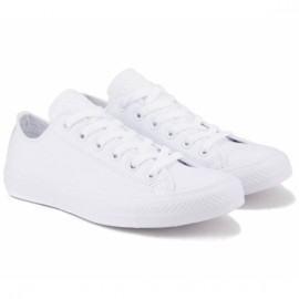 Converse chuck taylor all star mono leather 136823c 36(3,5)(р) кеды white 100% кожа
