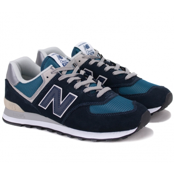 КРОССОВКИ NEW BALANCE ML574ESS 42(8,5)(р) Navy Замша