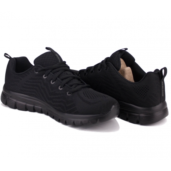 КРОССОВКИ SKECHERS GRACEFUL 12615/BBK (KW4266) 39(9)(р) Black/Black Текстиль