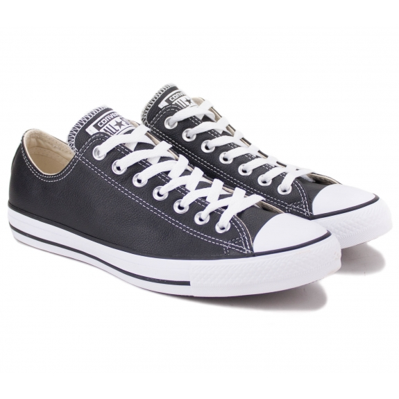 CONVERSE CHUCK TAYLOR ALL STAR LEATHER LOW 132174C 42(8,5)(р) Кеды Black 100% Кожа