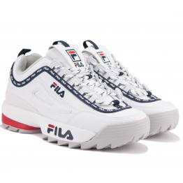 КРОССОВКИ FILA DISTRUPTOR LOGO LOW 1010748-1FG 37(6)(р) White Кожа
