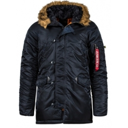 ALPHA INDUSTRIES SLIM FIT N-3B PARKA MJN31210C1L(р) Replica Blue/Orange нейлон