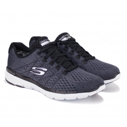 КРОССОВКИ SKECHERS FLEX APPEAL 3.0 13064/BKW (KW4814) 37(7)(р) Grey/White Текстиль