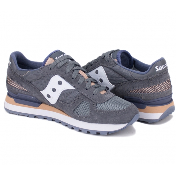 SAUCONY SHADOW ORIGINAL 1108-690 41(9,5)(р) Кроссовки Grey/Pink Замша/Материал