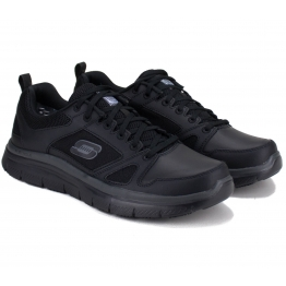 КРОССОВКИ SKECHERS WORK RELAXED FIT 77040BLK 44(10,5)(р) Black Кожа