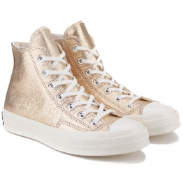 КЕДЫ CONVERSE 70 METALLIC LEATHER HIGH TOP 561730C 39(8)(р) Gold 100% Кожа