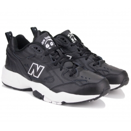 КРОССОВКИ NEW BALANCE MX608BW1 42(8,5)(р) Black 100% Кожа