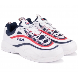 КРОССОВКИ FILA RAY 1CM00501-125 42(9)(р) White/Navy/Red Кожа