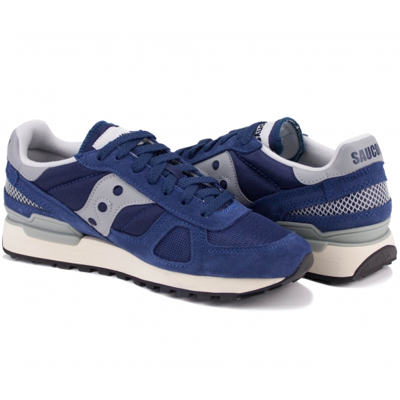 КРОССОВКИ SAUCONY SHADOW ORIGINAL VINTAGE S70424-3 45(11)(р) Navy/Grey Замша