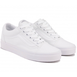 КЕДЫ VANS OLD SKOOL D3HW00 38(6)(р) White Текстиль