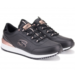 КРОССОВКИ SKECHERS DELIGHTFULLY 907/BLK (KW4589) 38(8)(р) Black Кожа