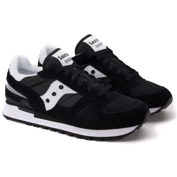 SAUCONY SHADOW ORIGINAL 2108-518 42(8,5)(р) Кроссовки Blk/Wht Замша/Материал