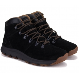 БОТИНКИ TIMBERLAND WORLD HIKER MID A1QFL 43(9)(р) Black Замша