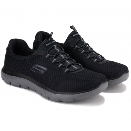 КРОССОВКИ SKECHERS 52811 BKCC SUMMITS (KM3010) 43(10)(р) Black/Grey Текстиль