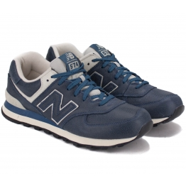 КРОССОВКИ NEW BALANCE ML574LUB 42(8,5)(р) Navy 100% Кожа