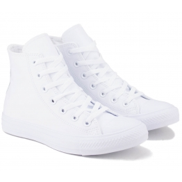 КЕДЫ CONVERSE CHUCK TAYLOR ALL STAR HI TOP MONOCHROME 1T406 36(3,5)(р) White 100% Кожа
