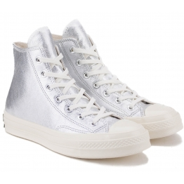 КЕДЫ CONVERSE 70 METALLIC LEATHER HIGH TOP 561731C 37(6,5)(р) Silver 100% Кожа