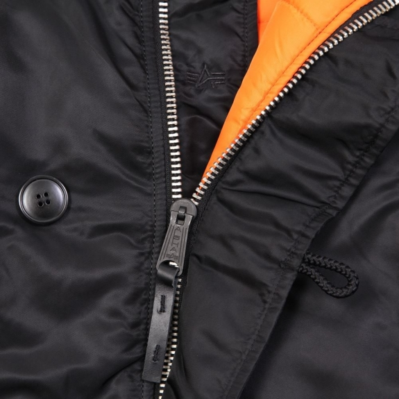 ALPHA INDUSTRIES SLIM FIT N-3B PARKA MJN31210C1 XL(р) Black/Orange нейлон