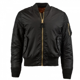 ALPHA INDUSTRIES MA-1 SLIM FIT FLIGHT JACKET MJM44530C1 M(р) Black нейлон