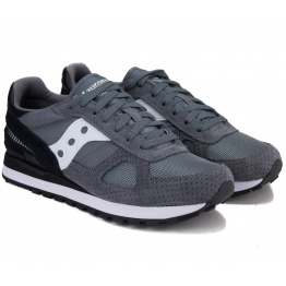 КРОССОВКИ SAUCONY SHADOW ORIGINAL S2108-694 45(11)(р) Grey/Black Замша/Текстиль