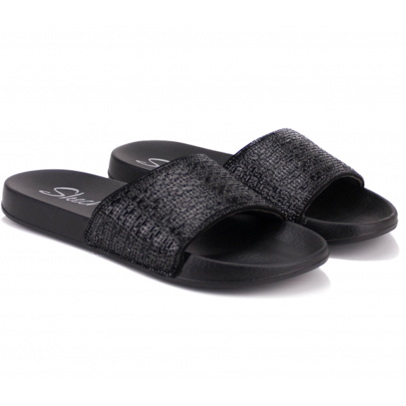 ШЛЁПАНЦЫ SKECHERS SUMMER CHIC 31546/BBK(KW4422) 38(8)(р) Black/Black Текстиль