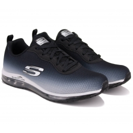 КРОССОВКИ SKECHERS AIR ELEMENT 12640 BKW (KW4824) 38(8)(р) Black/Grey Текстиль