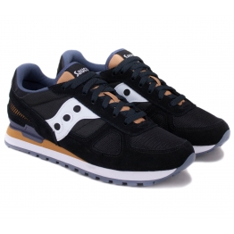 SAUCONY SHADOW ORIGINAL 2108-686 42(8,5)(р) Кроссовки BlackWhite/Yellow Материал