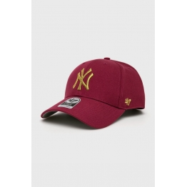 47 BRAND MVP SNAPBACK METALLIC NEW YORK MTLCS17WBP-GX Red