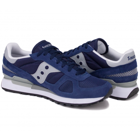 SAUCONY SHADOW ORIGINAL 2108-523 44(10)(р) Кроссовки Navy/Grey Материал/Нубук