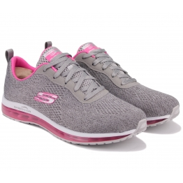 КРОССОВКИ SKECHERS AIR ELEMENT 12644 GYHP (KW4743) 39(9)(р) Grey/Pink Текстиль