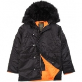 Купить ALPHA MJN31210C1-slimf fit N-3B Black/Orange Куртка